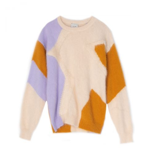 alysi angora tricot girocollo donna maglia 251419