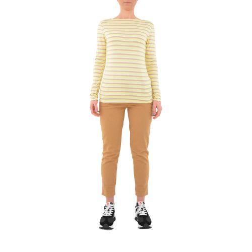bighet 3813/08 GIALLO BEIGE t-shirt donna beige e giallo