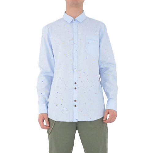 berna M 210160 89 camicia uomo celeste