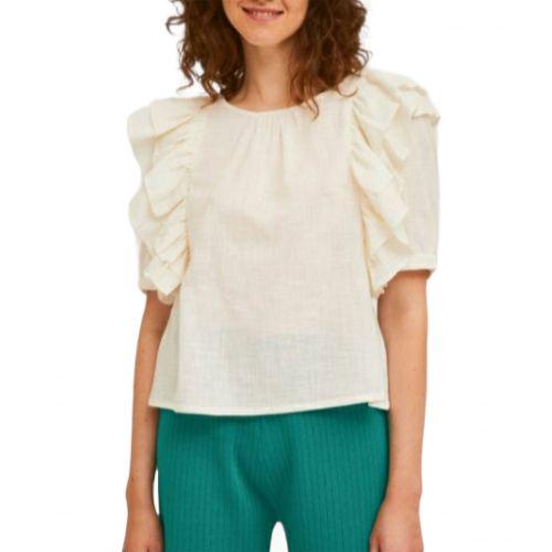 compania fantastica SP21SAM24 BIANCO blusa donna bianco