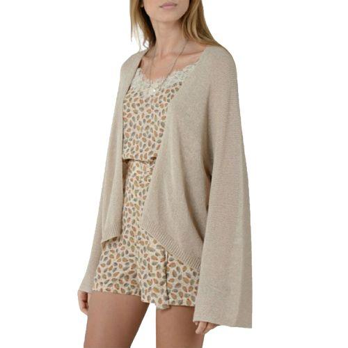 molly bracken E1383P21 BEIGE cardigan donna beige