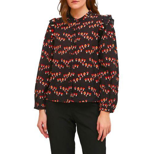 compania fantastica camicia donna nero FA21HAN10
