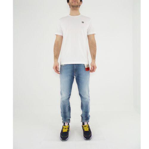 diesel T-DIEGOS-K30 0AXXJ 100 t-shirt uomo bianco
