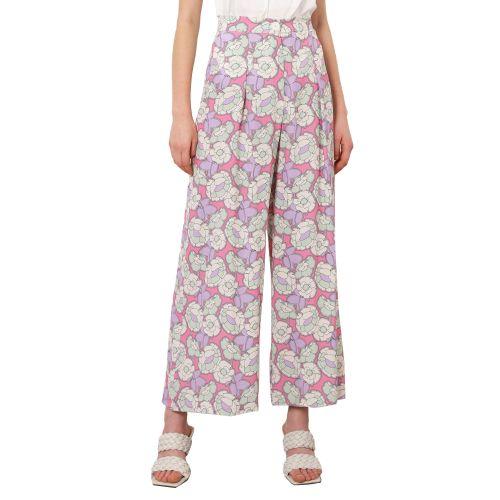 imperial P2C1BNW 2437 pantalone donna lilla e panna