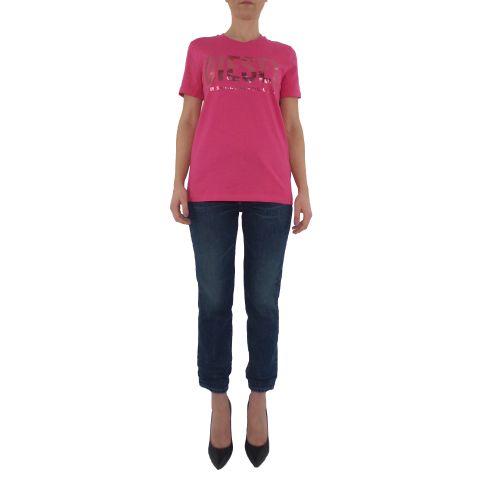 diesel T-SILY-WX 0CATJ 3BG t-shirt donna fucsia