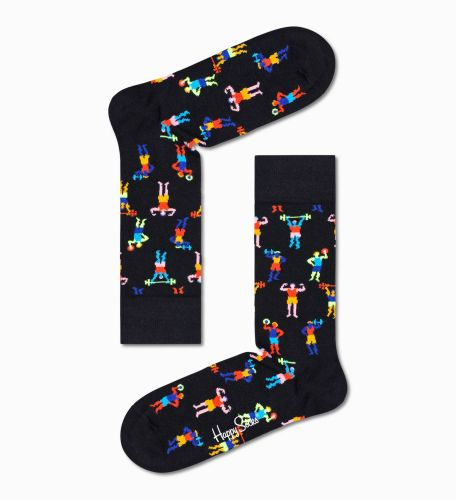 happy socks calzini donna nero WORK IT SOCK/D