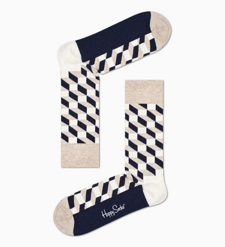 happy socks FILLED OPTIC SOCK/U 8000 calzini uomo multicolor
