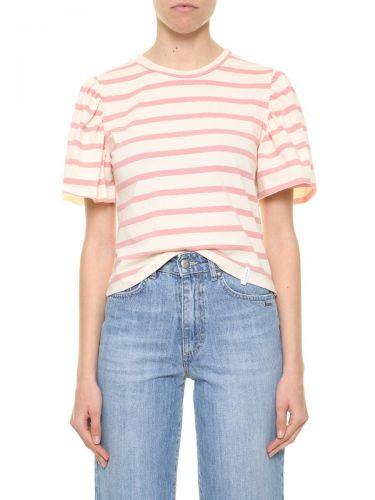 berna W 212063 303 t-shirt donna panna e rosa
