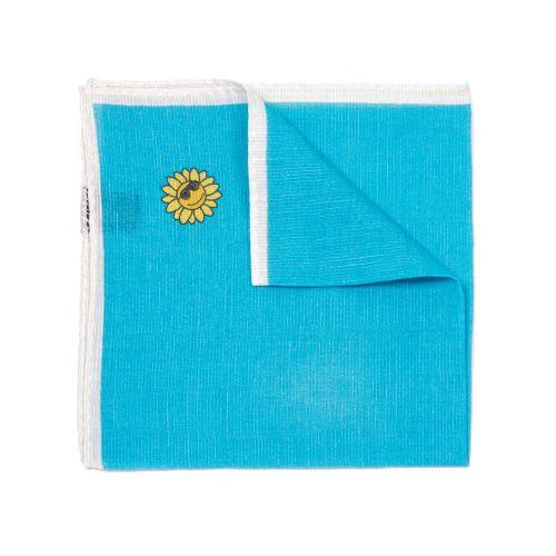 Eredi Chiarini Uomo Pochette Azzurro Bianco