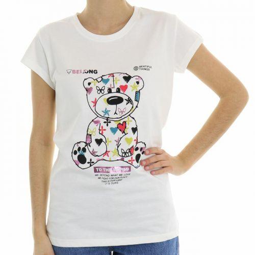 vicolo RH0089 LATTE t-shirt donna latte