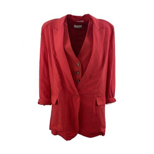 vicolo giacca donna rosso TH1498
