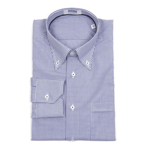 Lamberto Fabbracci Uomo Camicia Blu Bianco