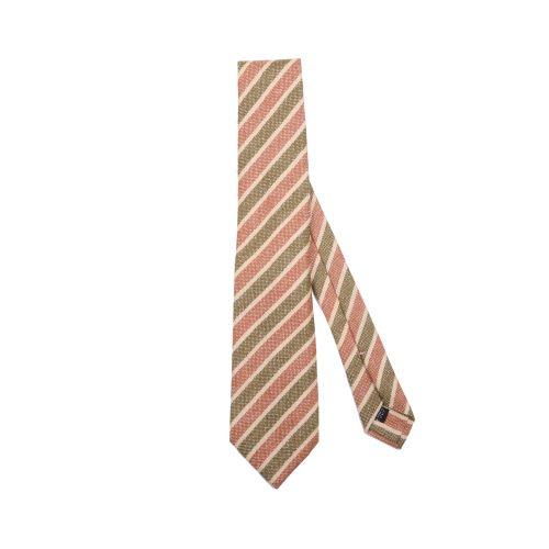 Luigi Borrelli Uomo Cravatta Marrone Arancione Giallo