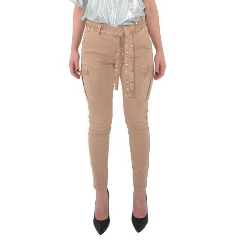 gaudi 111BD25020 2363 pantalone donna beige