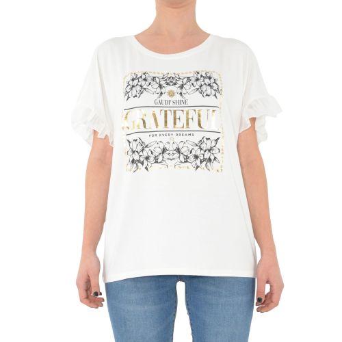 gaudi 111FD64011 2101 t-shirt donna panna