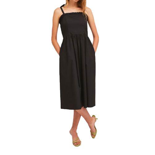 compania fantastica SS21HAN48 NERO abito donna nero