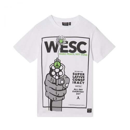 wesc max make peace uomo t-shirt L1122320