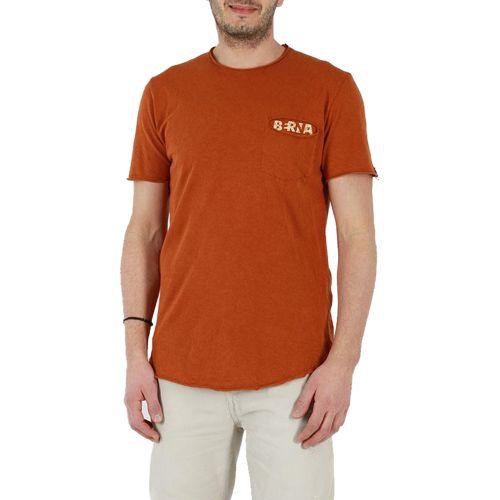 berna M 210093 347 t-shirt uomo arancione