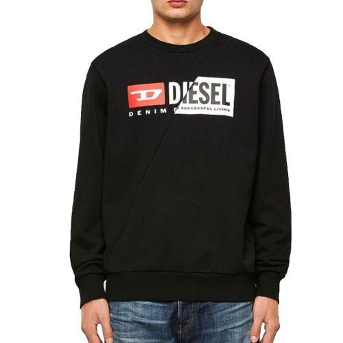 diesel S-GIRK-CUTY 0IAJH 900 felpa uomo nero