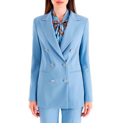 rinascimento giacca donna azzurro CFC0105019003