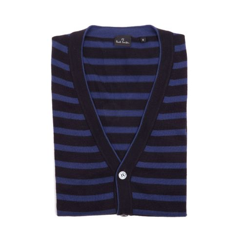 Paul Smith Uomo Cardigan Viola Nero