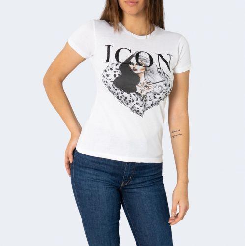 hiconika t-shirt donna bianco LADY DG475