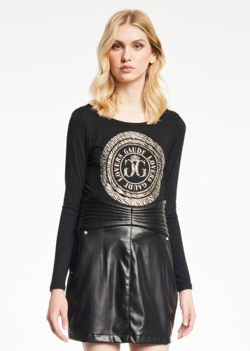 gaudi t-shirt donna nero 121FD64013