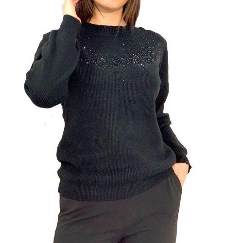 influencer H91064 BLACK maglia donna nero