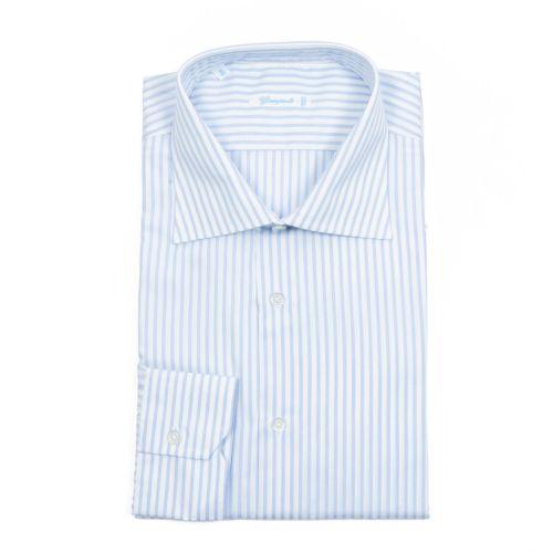 Giampaolo Uomo Camicia Celeste Bianco