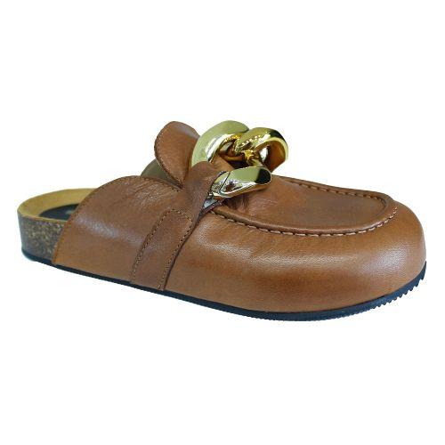 crown scarpe donna cuoio oro JW SABOT