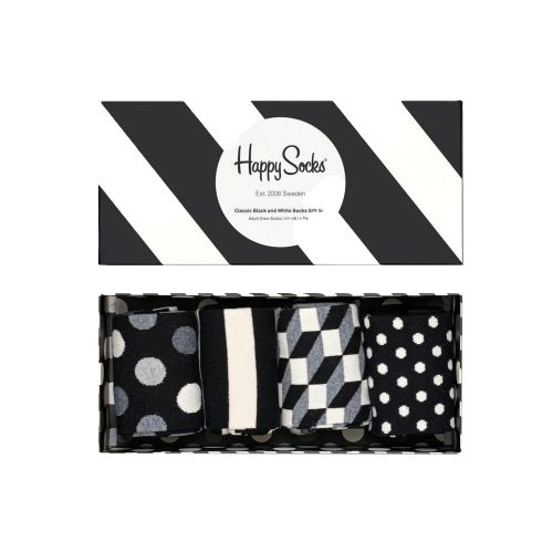 happy socks CLASSIC BLACK & WHITE SOCKS GIFT SET/D 9100 calzini donna multicolor