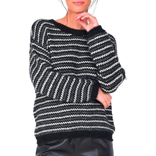 molly bracken maglia donna nero LA473H21