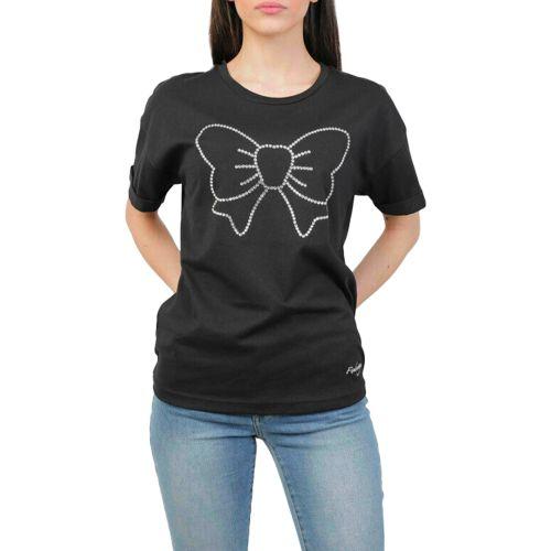 fix design t-shirt donna nero WF22FX15