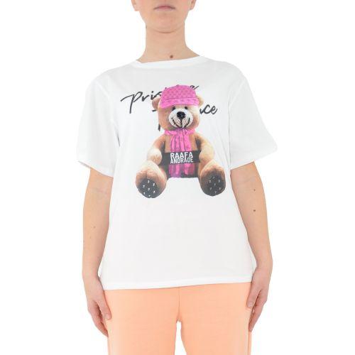miss love 18792 BIANCO/ROSA t-shirt donna bianco e rosa