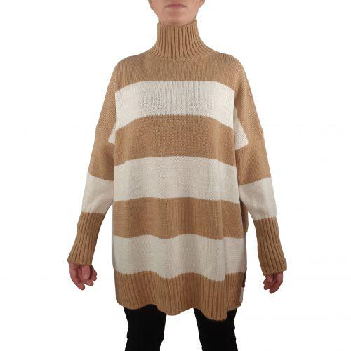 bighet maglia donna cammello panna 2237 380