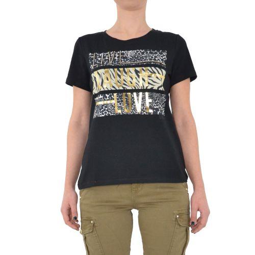 gaudi 111FD64013 2001 t-shirt donna nero