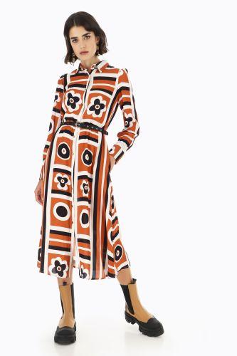 dixie abito donna multicolor AGGMQDO