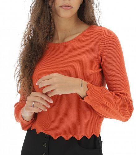 influencer H90274 SUNSET maglia donna arancione