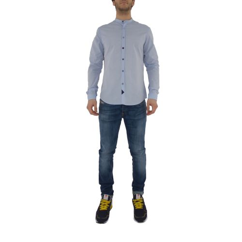 koon Q900-BOTTO-PE21 9 camicia uomo celeste