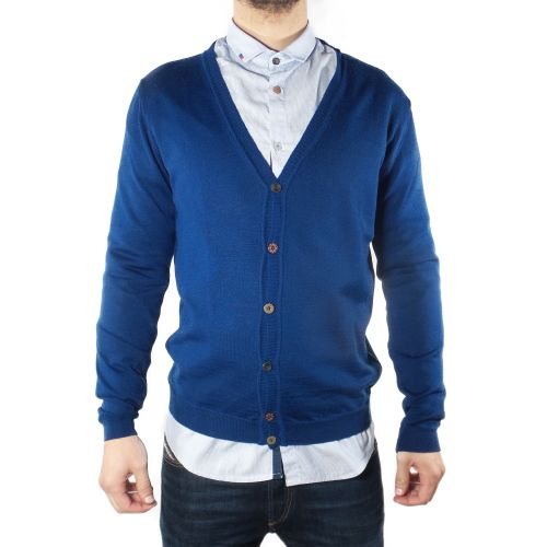 koon C9810 ROYAL cardigan uomo blu