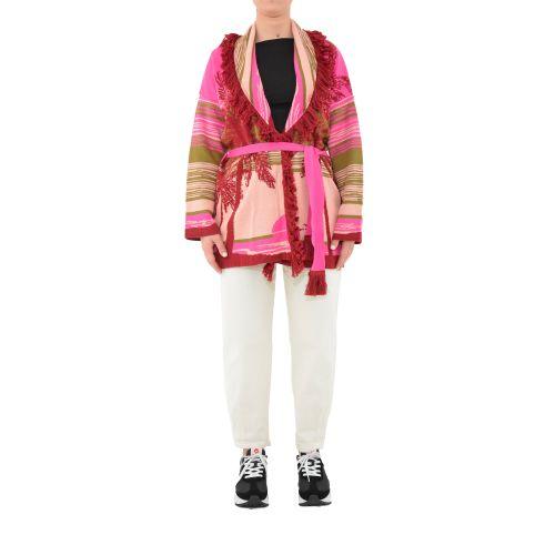 vicolo 2138H ROSA/VERDE cardigan donna rosa e verde