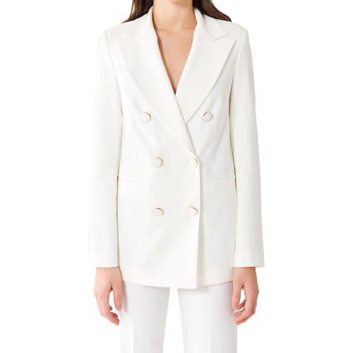 rinascimento CFC0102423003 B021 giacca donna bianco