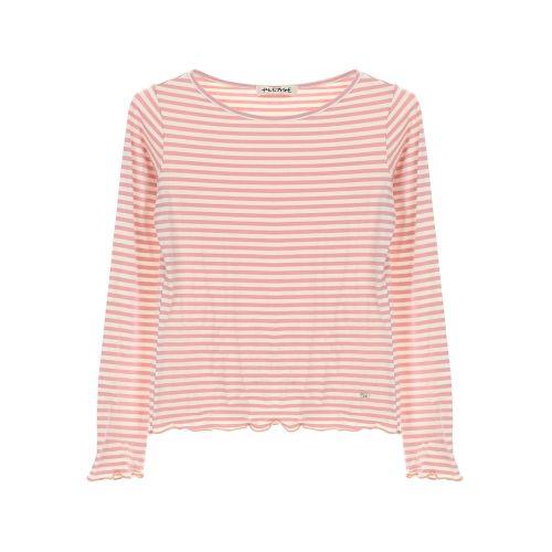 please T6400PL565 1431 t-shirt donna bianco e viola