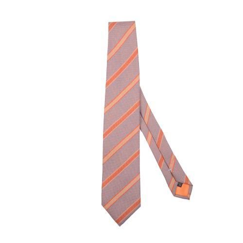 Franco Bassi Uomo Cravatta Celeste Arancione Giallo