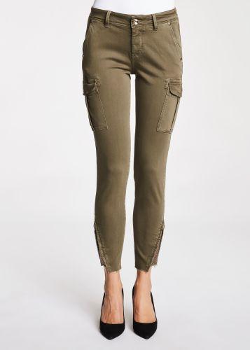 gaudi pantalone donna verde militare 121BD25004