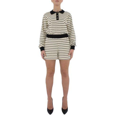dixie DACGPGN 2129 shorts donna nero e panna