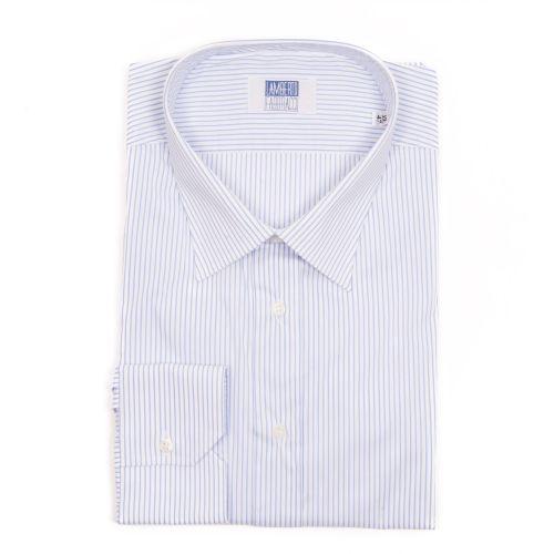Lamberto Fabbracci Uomo Camicia Celeste Bianco