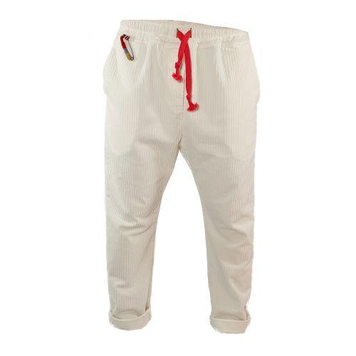 tematico TW21001 OFF WHITE pantalone uomo panna