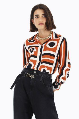 dixie blusa donna multicolor CBZGQDO