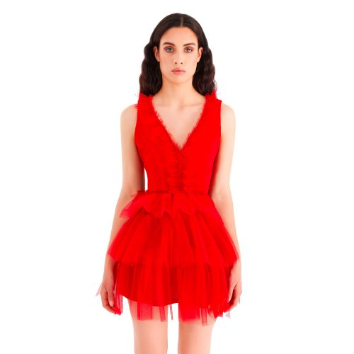 rinascimento abito donna rosso CFC0104940003